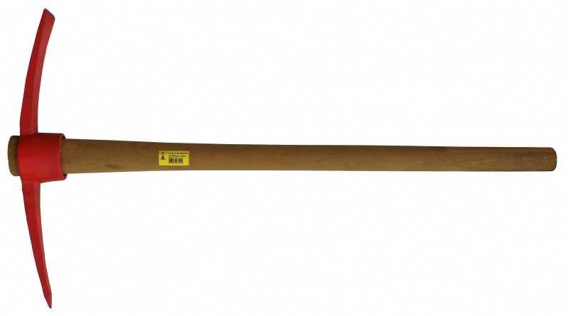 Descrição:Picareta Ponta Pá. Forjada em Aço Especial SAE 1045. Pintadas na cor vermelha. Peso: 4lb. Disponíveis com cabo ou sem cabo.